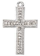 Croix Argentée Metal Strass Scrapbooking
