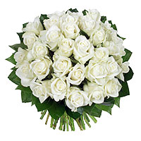Le Bouquet 40 Roses Blanches Platine