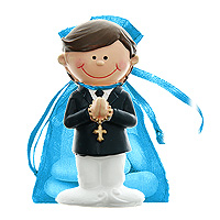 Lot de 6 Figurines Communion Style Bd avec Dragées
