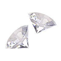 Lot de 16 Diamants � Facettes de D�coration