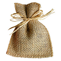 Lot de 5 Mini Sacs en Jute Naturelle Brute