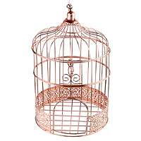 Tirelire Cage Métal Rose Gold